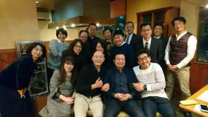 2017納会集合写真(ステーキ高橋にて)